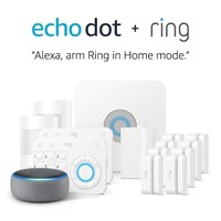 Ring Alarm 14 Piece Kit + Echo Dot (3rd Gen), Works with Alexa