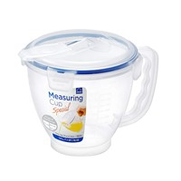 Lock & Lock HPL982 Easy Essentials Specialty Cup, 1-Liter Measuring Bowl, 1 Liter, Natural