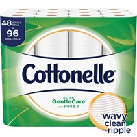 48 Double Rolls Cottonelle Ultra GentleCare Toilet Paper with Aloe & Vitamin E