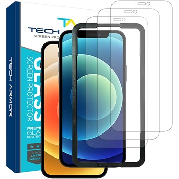 Tech Armor Ballistic Glass Screen Protector for Apple iPhone 12 and 12 Pro