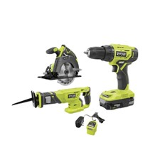 ONE+ 18V Cordless 3-Tool Combo Kit with (1) 1.5 Ah Battery, Charger, Bag