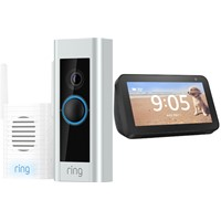 Ring Video Doorbell Pro (Wired) w/ Chime Pro + Echo Show 5 Smart Display