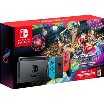 Nintendo Switch Neon Blue/Neon Red Joy-Con + Mario Kart 8 Deluxe