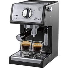 DeLonghi Espresso Machine with 15 bars of pressure - Black